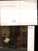 192434,Künstler Ak R. Bressler Nach Feierabend Bub Junge Liest A. Kamin Lesen Buch Al - Ohne Zuordnung