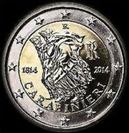 2014-ITALIA REPUBBLICA-2 EURO -200 ANNI ARMA  DEI  CARABINIERI-FDC Da Rotolino - Italia