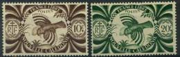 France, Nouvelle Calédonie : N° 242 Et 243 X Année 1943 - Nouvelle-Calédonie