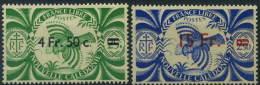 France, Nouvelle Calédonie : N° 255 Et 256 Xx Année 1945 - Nouvelle-Calédonie