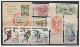1935 1971 Cecoslovacchia Czechoslovakia 4 Serie Con 11v.: 292 Masaryk Su Frammento 18/12/35. 1457/60,1461/62,1889/92 ** - Cecoslovacchia