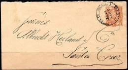 BOLIVIA 1900 - Entire Envelope Of 10 Centavos From La Paz To Santa Cruz - Bolivia