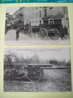 Militaria Guerre 1914 1918 COMPIEGNE SOISSONS ARTILLERIE ANGLAISE Gros Canon Attelage Militaire - Guerra 1914-18