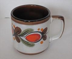 Tasse Schramberger Vintage Orange Et Marron - Non Classés