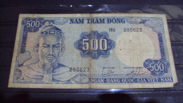 South Viet Nam Vietnam 500 Dong Tran Hung Dao Banknote 1966 - P#23 / 02 Images - Vietnam