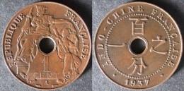 INDOCHINE  1 Cent 1937  INDOCINA  INDOCHINA    PORT OFFERT - Colonies