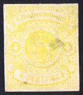 Non Dentelé 4 Cent (*) Aminci - 1859-1880 Coat Of Arms