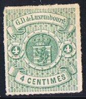 Percé En Lignes Incolores   4 Cent Vert Neuf Sans Gomme - 1859-1880 Wappen & Heraldik
