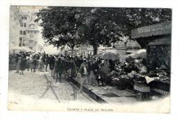 Cp , SUISSE , GENEVE , Place Du MOLARD , Dos Simple , Commerce , Primeurs , Fleurs , Vierge , Attelage - GE Genève