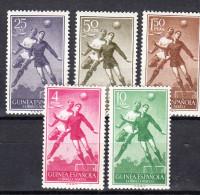GUINEA 1955  SERIE BASICA.FUTBOL EDIFIL Nº 350/354   NUEVO SIN  CHARNELA  SES082 - Spanish Guinea
