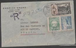 RO) 1948 BOLIVIA, BALLIVIAN-GENERAL, 20 CENTAVOS, 2.50 BOLIVIANOS, BRIDGE, COVER TO BRAZIL, XF - Bolivia