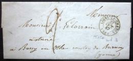 CACHET Type 15A  --  LIGNY LE CHATEL  --  YONNE  --  LSC  --  1847  --  Indice 3 - 1801-1848: Précurseurs XIX