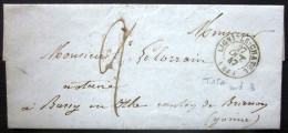 CACHET Type 15A  --  LIGNY LE CHATEL  --  YONNE  --  LSC  --  1847  --  Indice 3 - Marcophilie (Lettres)