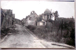 60 CUVILLY 1918 Ruines Rue Du Village Carte Photo - Guerre Mondiale 1914 - Frankrijk