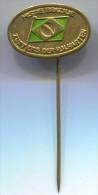 Missie Brazilie , Zusters der H.H. Harten, Holland, metal pin, badge
