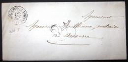 CACHET Type 15  --  COULANGE LA VINEUSE  --  YONNE  --  LSC  --  1850  --  Indice 3 - 1849-1876: Période Classique