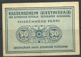 Estland Estonia Estonie 50 Penni 1919 - Estland