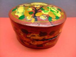 CAJA DE MADERA PINTADA A MANO -nice Wooden Box Hand Painted - Cajas/Cofres