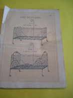 Extrait de Catalogue / Lits d�enfants et de poup�es/ Origines? //Grand format/Vers 1900     JE98