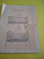 Extrait De Catalogue / Lits D´enfants Et De Poupées/ Origines? //Grand Format/Vers 1900     JE98 - Jouets Anciens