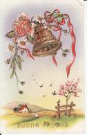 Buona Pasqua, Cloches Et Dorures (  2 Scans ) - Ostern