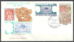 Benin Republique Populaire Du. 1976 FDC. Premier Jour 13 Sept. Juvarouen Yv PA 254 255 Mi 59 60 (Ge.Anger 30-6) - Benin – Dahomey (1960-...)