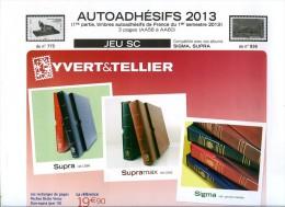 JEU FRANCE SUPRA YVERT AUTOADHESIFS 2013 1er SEMESTRE - Pré-Imprimés