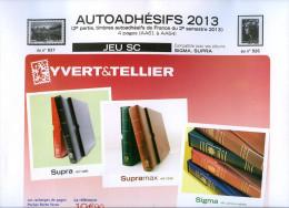 JEU FRANCE SUPRA YVERT AUTOADHESIFS 2013 2EME SEMESTRE - Pré-Imprimés