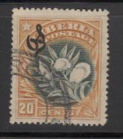 Liberia    Scott No.  064   Used    Year  1909 - Liberia