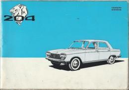 Notice De Conduite Et Entretien/ 204 Peugeot/ Vers 1966      AC93 - Cars