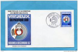 NOUVELLE CALEDONIE - ENVELOPPE FDC N° 540 - VIII°JEUX DU PACIFIQUE --1987 - Briefe U. Dokumente