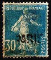 """Griffe Linéaire """" PARIS """" S/  Y/T N° 192 - Semeuse Fond Plein. - Marcophilie (Timbres Détachés)"""