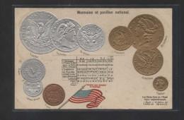 "U.S.A. ""Monnaies Et Pavillon National"" Edición Francesa,  Nueva - Monedas (representaciones)"