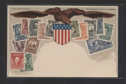 "U.S.A. ""Briefmarkenkarte D.R.G.M. Nº 222744""  Ed. Ottmar Zieher, Munchen.  Nueva - Sellos (representaciones)"