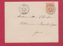 Lot 272  // Enveloppe De Héry   //  Pour Villeneuve L Archevêque  //    4 Mars 1902 - 1877-1920: Période Semi Moderne