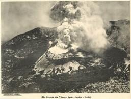 Ref 426- Photographie- Tirage Cartonné - Années 1930 -cratere Volcan Du Vesuve Pres De Naples -italie -volcans  - - Non Classificati