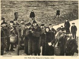 Ref 433- Photographie- Tirage Cartonné - Années 1930 - Peche D Un Etang De La Dombes -ain -theme Peche-pecheurs  - - Non Classificati