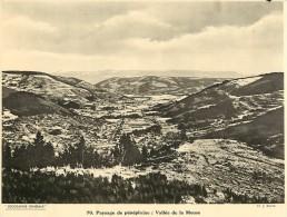 Ref 434- Photographie- Tirage Cartonné - Années 1930 - Paysage De Peneplaine -vallee De La Meuse  - - Non Classificati