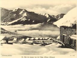 Ref 440- Photographie- Tirage Cartonné - Années 1930 - Mer De Nuages Vue De L Alpe D Huez -oisans -isere  - - Non Classificati