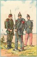 Chromo - Ref 612 - Chromo - Uniforme Pionnier - Infirmier - Soldat Du Genie .... - Chromo Bon Etat- - Chromos
