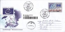 Moldova  ;  Moldau  ; Moldavie  ; 2014  ; 65 Years Of Creation Of The Council Of Europe ; Map ; Pre-paid Envelope ; FDC - Moldova