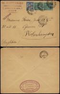 France 1895 Postal History Rare Cover Postal Stationery Nice To Wolverhampton UK D.561 - France