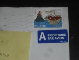 LETTRE ISLANDE ISLAND ICELAND AVEC YT 753 - EUROPA - SAINT BRENDAN VOLCAN - - 1944-... Republique