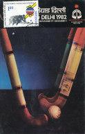 D18049 CARTE MAXIMUM CARD 1981 INDIA - WORLD CUP FIELD HOCKEY CP ORIGINAL - Hockey (Field)