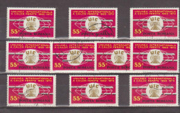 1972 - Chemis De Fer  Michel No 3029 Et Y&T No 2706 LOT X 10 - 1948-.... Repúblicas