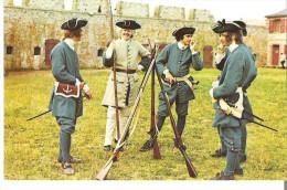 Fortress Of Louisbourg, Cape Breton, Nova Scotia Soldiers Of The Compagnies Franches De La Marine In The King's Bastion - Cape Breton