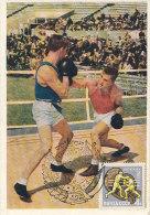 D18067 CARTE MAXIMUM CARD 1963 RUSSIA - BOXING CP ORIGINAL - Boxing