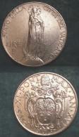 M_p> Vaticano Pio XI 1 Lira 1937 Tiratura 70.000 Pezzi - Vaticano