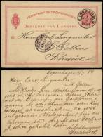 Denmark 1884 Postal History Rare Postcard Postal Stationery Copenhagen To St Gallen Switzerland D.604 - 1864-04 (Christian IX)