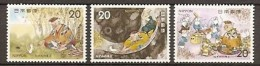 1975 Japan Fairy Tale Paradise Of The Mice Stamps Rat Mouse Sc#1208-10 - Rodents